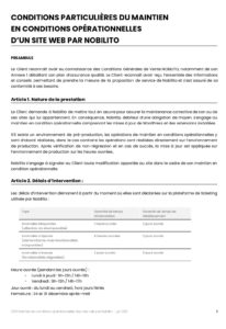 Conditions Particulières MCO Nobilito 2021